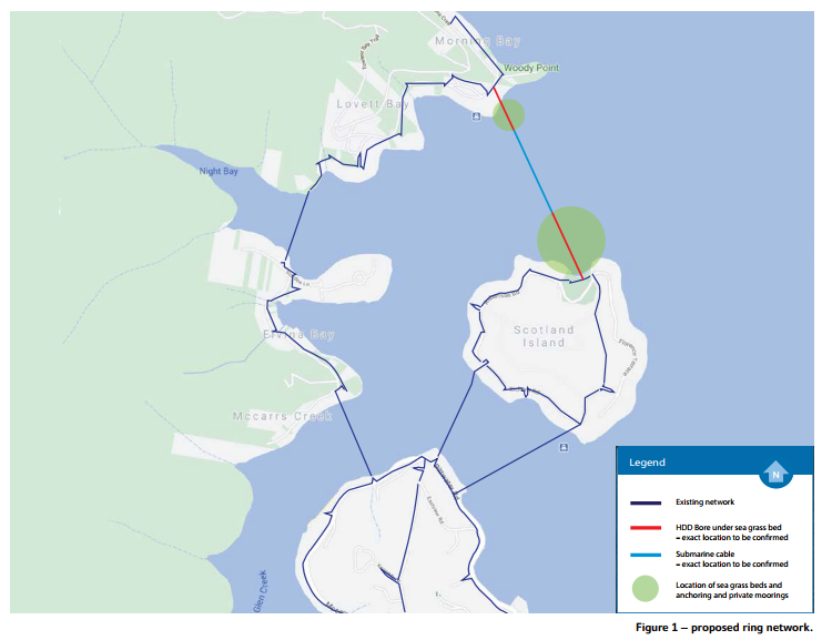 Ausgrid West Pitterwater proposed network route map
