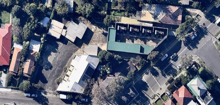 Aerial view of Summer Hill  substation