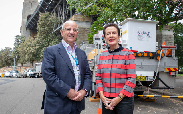 Ausgrid CEO Richard Gross and Lord Mayor Clover Moore