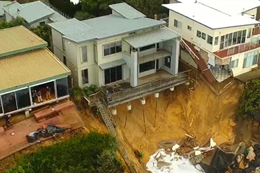 Image of storm damage in Wamberal Central Coast