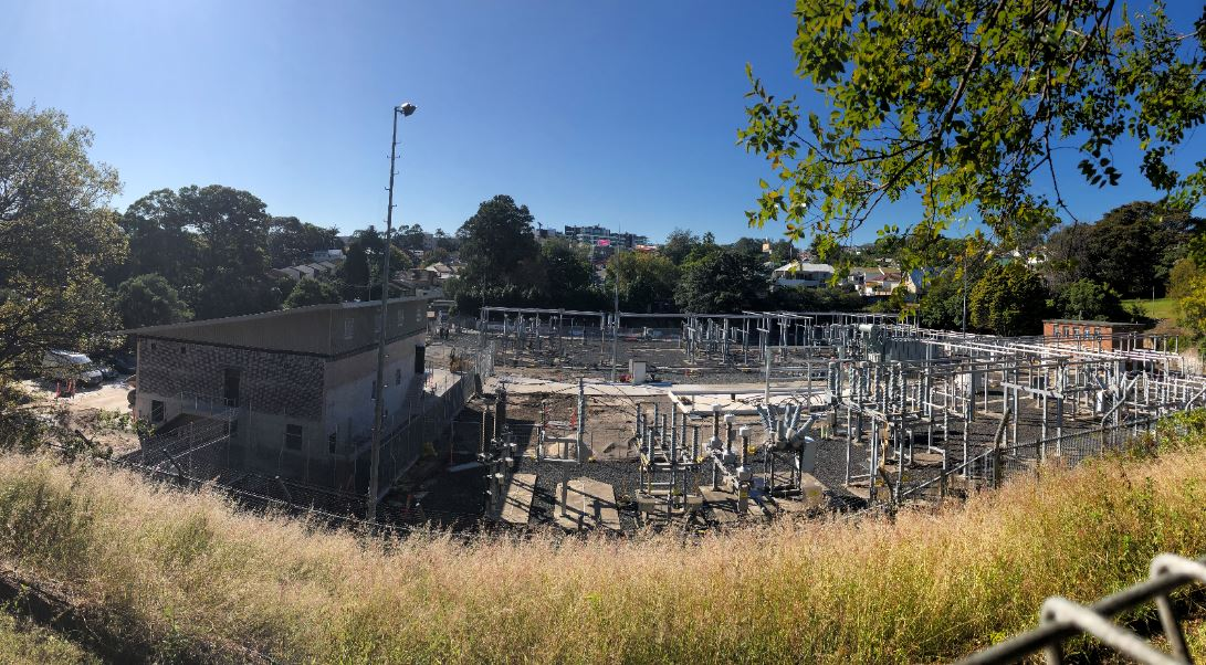 Imahe showing Ausgrid's Rozelle substation