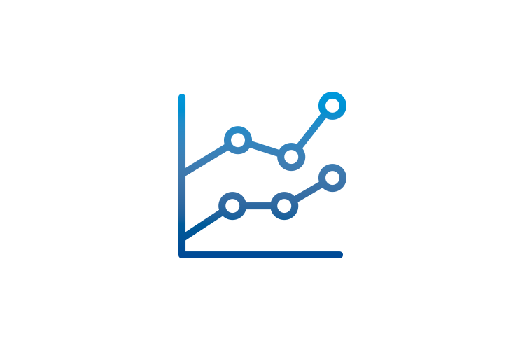 Graph data icon - Data to share