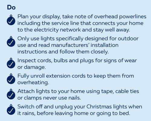 Christmas Electrical Safety - Dos