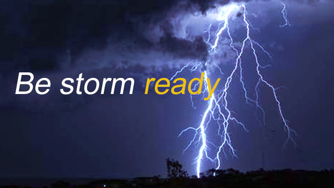 Be storm ready - safety advice and tips to help you before, during and after a storm